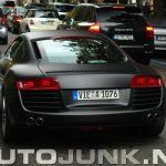 Matte Black Audi R8 Spotted Germany