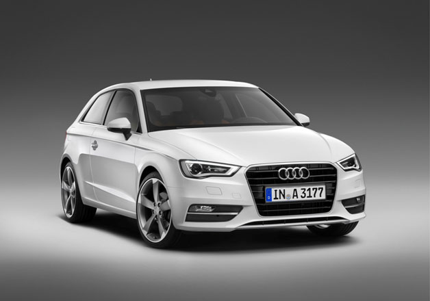 2013 Audi A1 leaked images - front three-quarter view