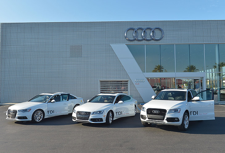 Audi efficiency drive Audi TDI® models smash fuel economy ratings during cross country efficiency drive