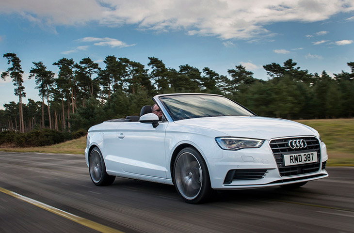 Audi A3 Cabriolet Sport Front Angle Best in Class Honours for Audi A3 Cabriolet and A6 Ultra in Auto Express Awards