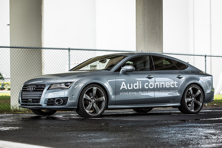 Audi A7 Piloted Drive Tampa 2014 Front Angle Audi to Show That Piloted Driving Will Soon Be Ready for The Road With Florida Demonstration [VIDEO]