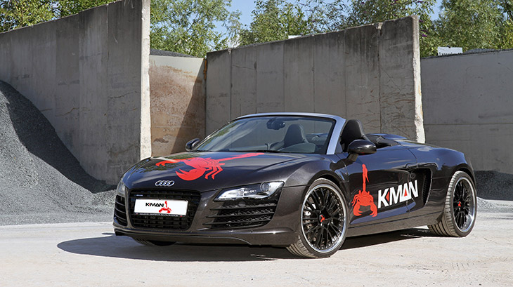 K MAN Audi R8 2014 Front Angle K.MAN – Turbo Power Under the Banner of The Scorpion