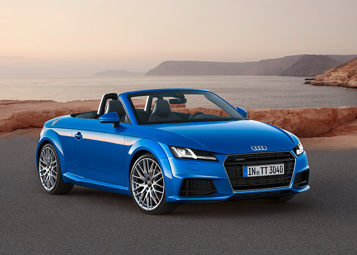 Audi TT Roadster 2015 Front Openly Sporty: The New Audi TT Roadster and The Audi TTS Roadster