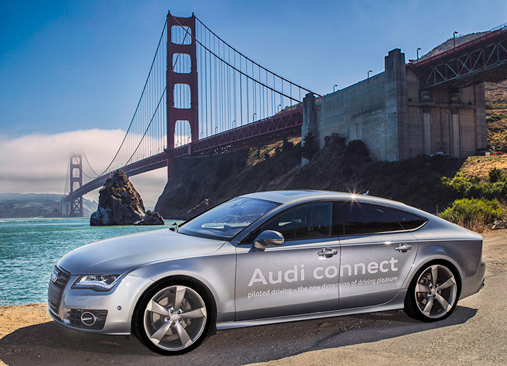 Piloted Driving California 2014 Audi Receives First Autonomous Driving Permit issued by The State of California