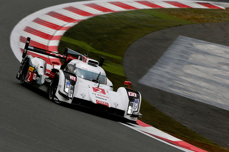 Audi R18 e tron quattro Front Angle Audi Will Start From Third Row in Japan