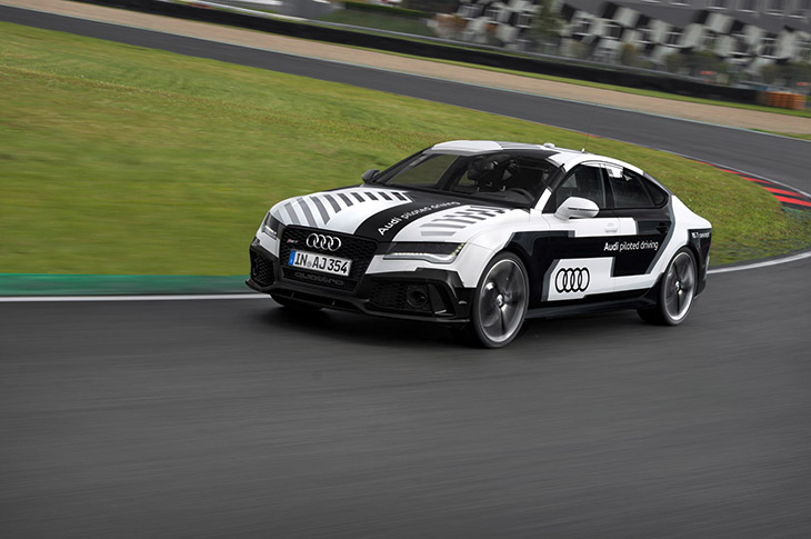 Audi RS 7 Piloted Driving Concept 2014 Front Angle Audi Takes to The Race Track With The Sportiest Piloted Driving Car in The World