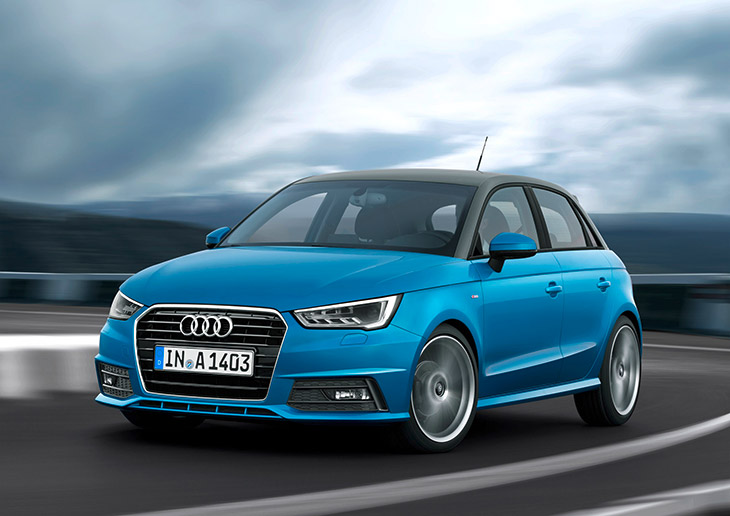 Audi A1 Sportback 2015 Front Angle Sporty and Efficient, Fresh and Attractive – The New Audi A1 and A1 Sportback [VIDEO]