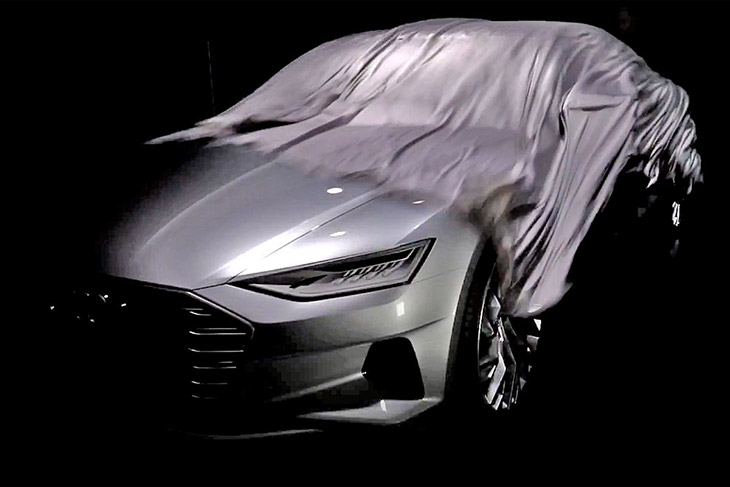 Audi A9 Concept Front Audi A9 Concept Teased in The Flesh Ahead of LA Motor Show [VIDEO]