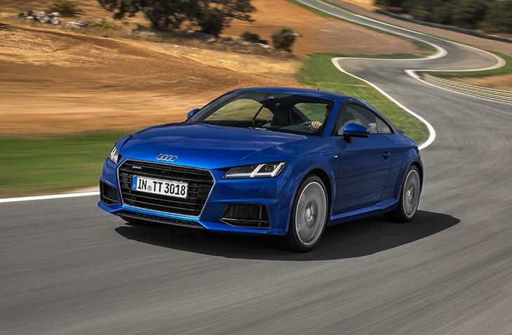 Audi TT Coupe 2015 Front Angle All New Audi TT Makes its U.S. Debut at LA Auto Show