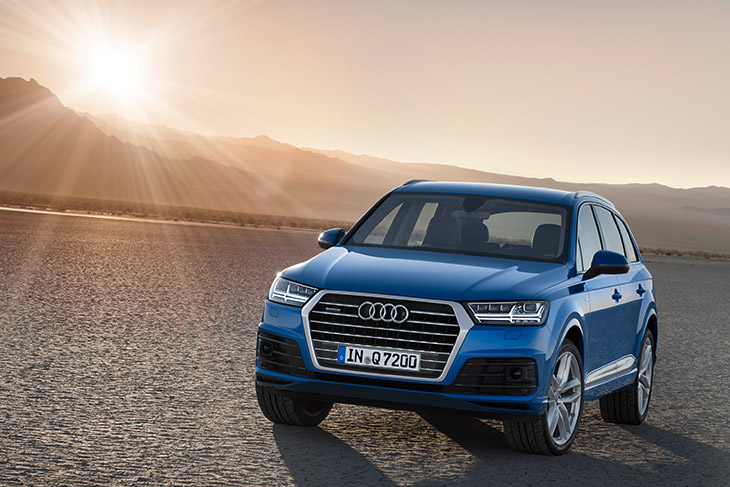 Audi Q7 2016 Front Angle The New Audi Q7 – Sportiness, Efficiency, Premium Comfort