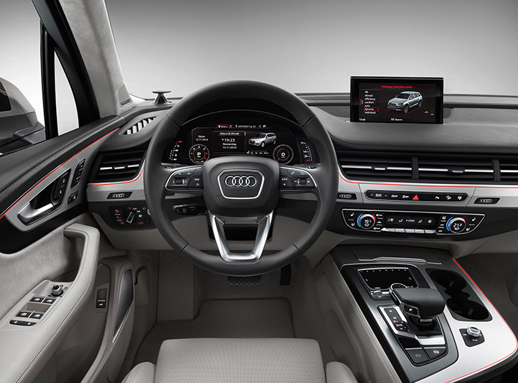 Audi Q7 2016 display The Driver Assistance Systems in The New Audi Q7   A Range That Sets New Standards