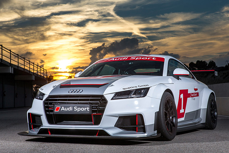 Audi Sport TT Cup 2015 Front Audi Sport TT Cup as Six Pack at DTM