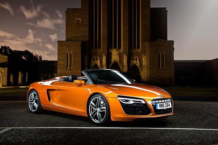 The Audi R8 Audi Range Stars Sparkle for Twelve Days of Christmas