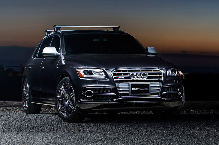 VMR Wheels Audi SQ5 2014 Front Angle V708 Nickel Plated 20″ on an Audi SQ5