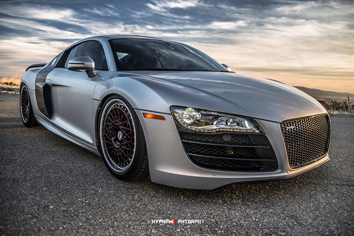 Audi R8 HRE 501C Front Angle