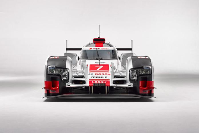 Audi R18 e-tron quattro with new aerodynamics Front