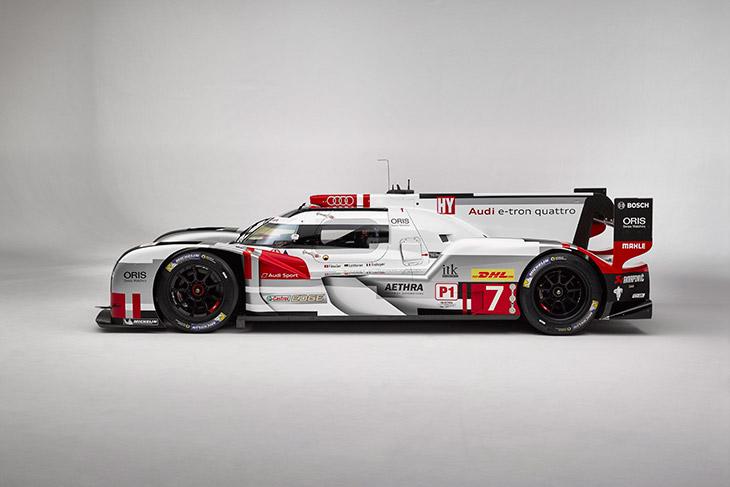 Audi R18 e-tron quattro with new aerodynamics Side