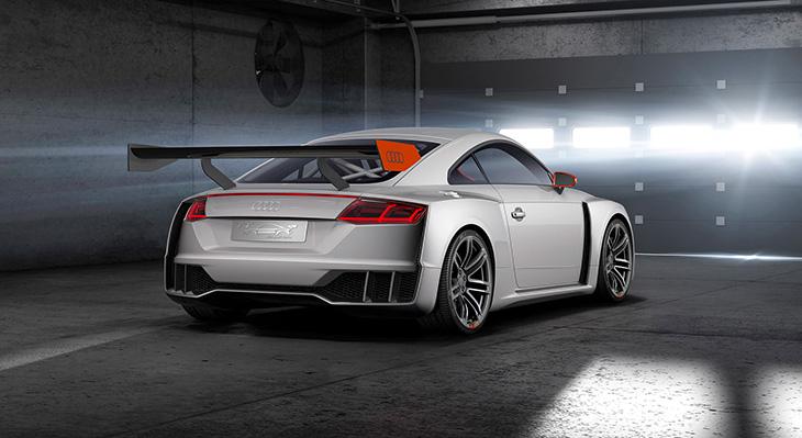 2015 Audi TT Clubsport Turbo Concept Rear Angle
