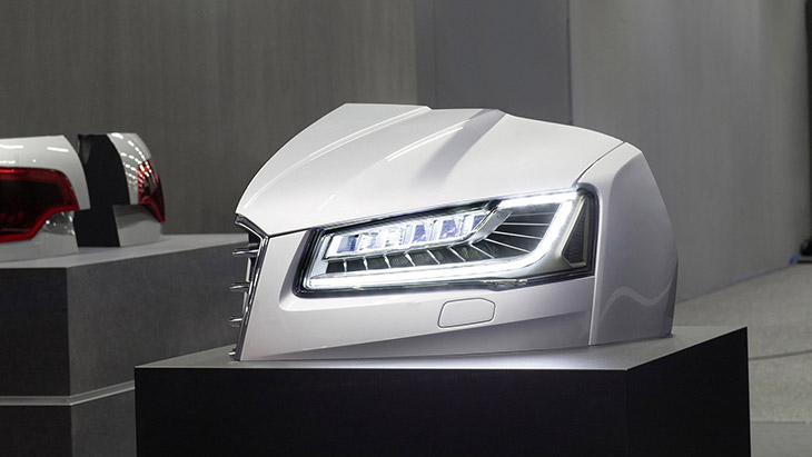 Audi A8 Technology model-Matrix Laser headlight 2015