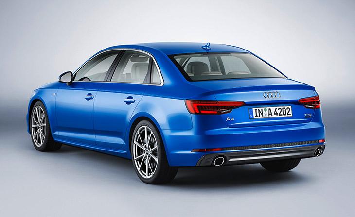 2016 Audi A4 Blue Exterior Rear Angle