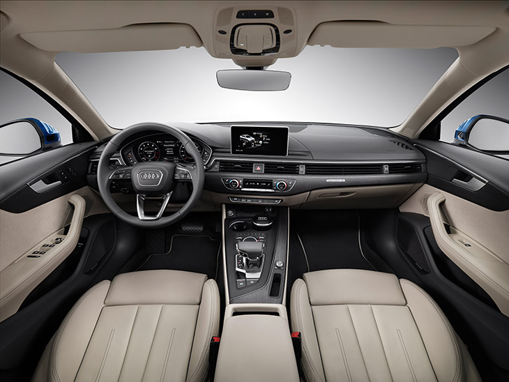 2016 Audi A4 Interior Dashboard and Front Seats