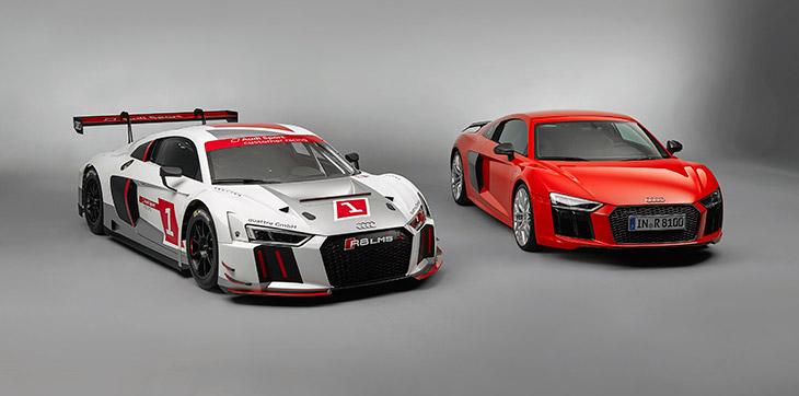 Audi R8 LMS and Audi R8 V10 plus