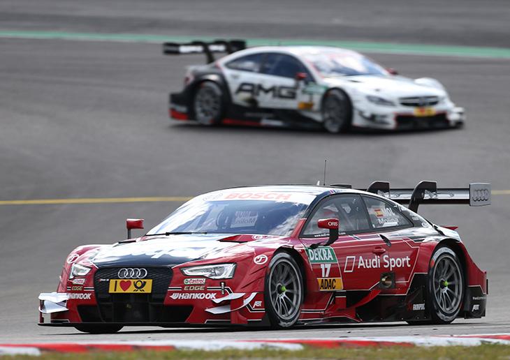Audi driver Molina celebrates first DTM victory