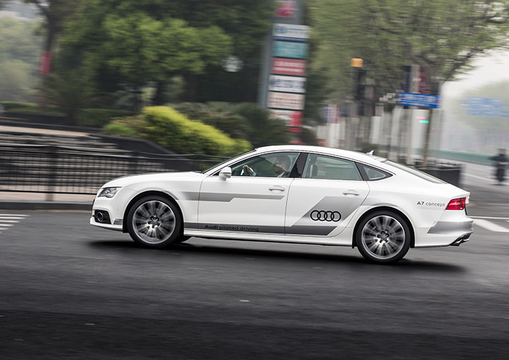 Audi A7 Sportback as technology demonstrator within the UR:BAN national joint project