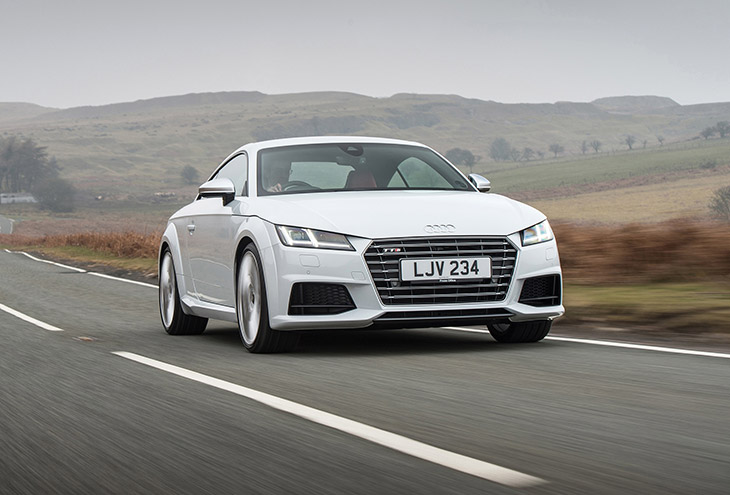 2016 Audi TTS Coupe White Front Angle