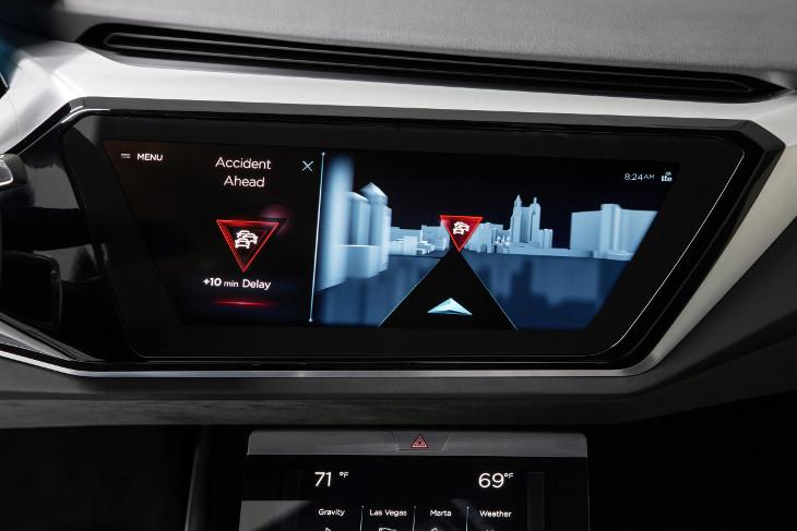 Audi e-tron quattro concept CES 2016 display